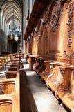 Interior de la catedral de la cruz santa, Orl?ans Foto de archivo libre de regalías