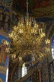 Interior de la catedral de la resurrección de Cristo en St Petersburg, Rusia Iglesia del salvador en sangre Fotos de archivo libres de regalías