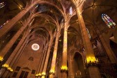 Interior de la catedral de Palma Foto de archivo