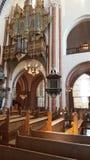 Interior de la catedral de Roskilde Foto de archivo