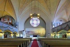 Interior de la catedral de Tampere, Finlandia Foto de archivo