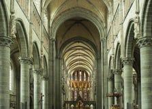 Interior de la catedral de Ypres fotografía de archivo