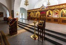Interior de la catedral del salvador en el ` s Yuriev O de San Jorge Imágenes de archivo libres de regalías