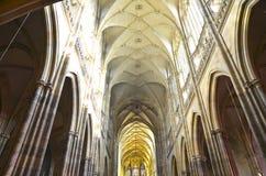 Interior de la catedral del St. Vitus Foto de archivo