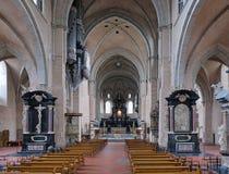 Interior de la catedral del Trier, Alemania Foto de archivo