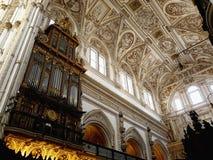 Interior de la catedral en Córdoba, España Fotografía de archivo libre de regalías