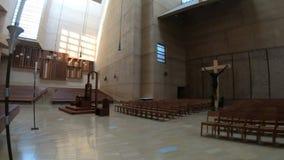 Interior de la catedral de Los Angeles metrajes