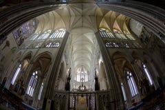 interior de la catedral Notre Dame, Amiens, Picardía, Francia imagen de archivo