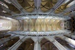 interior de la catedral Notre Dame, Amiens, Picardía, Francia fotos de archivo