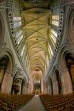 interior de la catedral Notre Dame, Bayeux, Normandía, Francia fotos de archivo