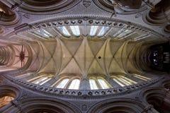 interior de la catedral Notre Dame, Bayeux, Normandía, Francia fotografía de archivo libre de regalías