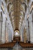 Interior de la catedral de Winchester foto de archivo