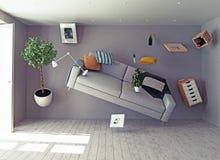 interior de la Cero-gravedad ilustración del vector