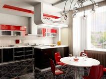 Interior de la cocina stock de ilustración