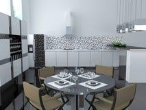 Interior de la cocina moderna Fotografía de archivo libre de regalías