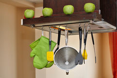 Interior de la cocina moderna Imagen de archivo libre de regalías