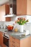 Interior de la cocina y del comedor Foto de archivo libre de regalías