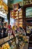 Interior de la comida Pasillo del ` s de Yeliseev Constr del colmado de Yeliseyev Foto de archivo