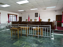 Interior de la corte de ley en Jing-Mei Human Rights Memorial y culto Foto de archivo