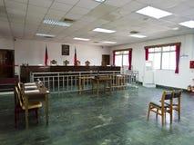 Interior de la corte de ley en Jing-Mei Human Rights Memorial y culto Imágenes de archivo libres de regalías