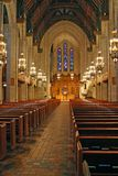 Interior de la cuarta iglesia presbiteriana en Chicago, Illinois imagenes de archivo