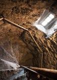 Interior de la escalera espiral Fotografía de archivo libre de regalías