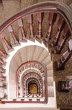 Interior de la escalera espiral del vintage Fotografía de archivo libre de regalías