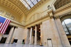 Interior de la estación de la unión, Chicago Fotos de archivo libres de regalías