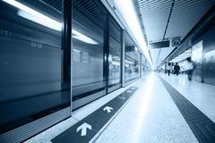 Interior de la estación de metro Fotografía de archivo libre de regalías