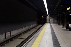 Interior de la estación de metro foto de archivo libre de regalías