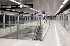Interior de la estación de metro Gorg en el metro de Barcelona Fotografía de archivo