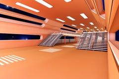 Interior de la estación espacial Imagen de archivo libre de regalías