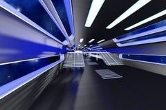 Interior de la estación espacial Imágenes de archivo libres de regalías