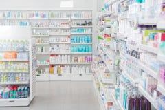 Interior de la farmacia Imágenes de archivo libres de regalías