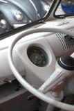 Interior de la furgoneta de VW Imágenes de archivo libres de regalías