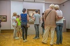 Interior de la galería de Tretyakov del estado en Moscú Fotos de archivo