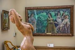 Interior de la galería de Tretyakov del estado en Moscú Foto de archivo