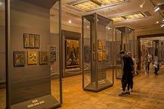 Interior de la galería de Tretyakov del estado en Moscú Foto de archivo libre de regalías