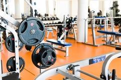Interior de la gimnasia Foto de archivo