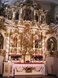 Interior de la iglesia Fotografía de archivo