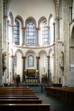 Interior de la iglesia Colonia del St Kunibert Foto de archivo libre de regalías