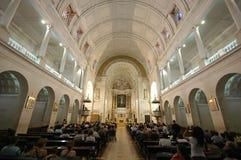 Interior de la iglesia de Fátima Imagen de archivo