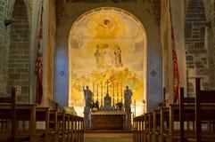 Interior de la iglesia de la abadía de Rosazzo Foto de archivo libre de regalías