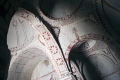 Interior de la iglesia de la cueva Fotografía de archivo