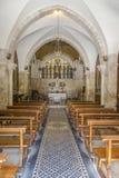 Interior de la iglesia de la flagelación fotos de archivo libres de regalías