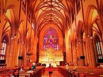 Interior de la iglesia de la trinidad en Nueva York foto de archivo libre de regalías