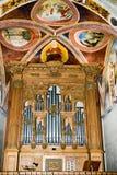 Interior de la iglesia de Maria del santo en Morcote en Suiza Imágenes de archivo libres de regalías