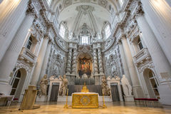Interior de la iglesia de Theatine Foto de archivo