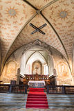 Interior de la iglesia del degli Angioli de Santa Maria Lugano switzer fotografía de archivo