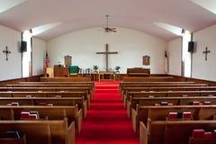 Interior de la iglesia del país Imagenes de archivo